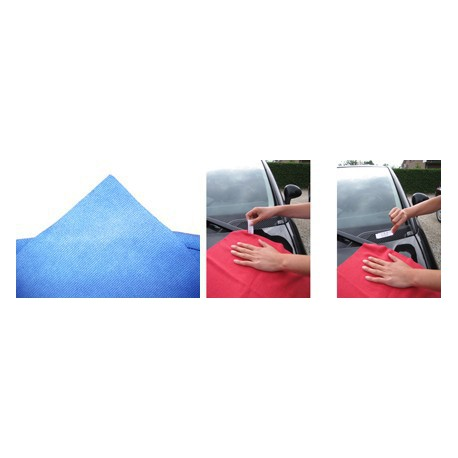 Micro-Fibre Tricot Laser Auto 40 x 40 cm bleu