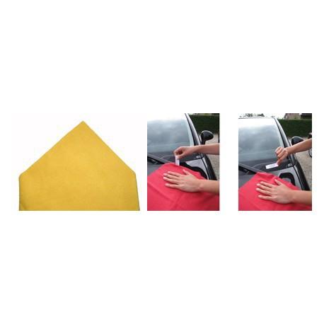 DESTOCKAGE - Sachet de 5  ''Tricot Laser'' Pro 38 x 38 cm jaune -